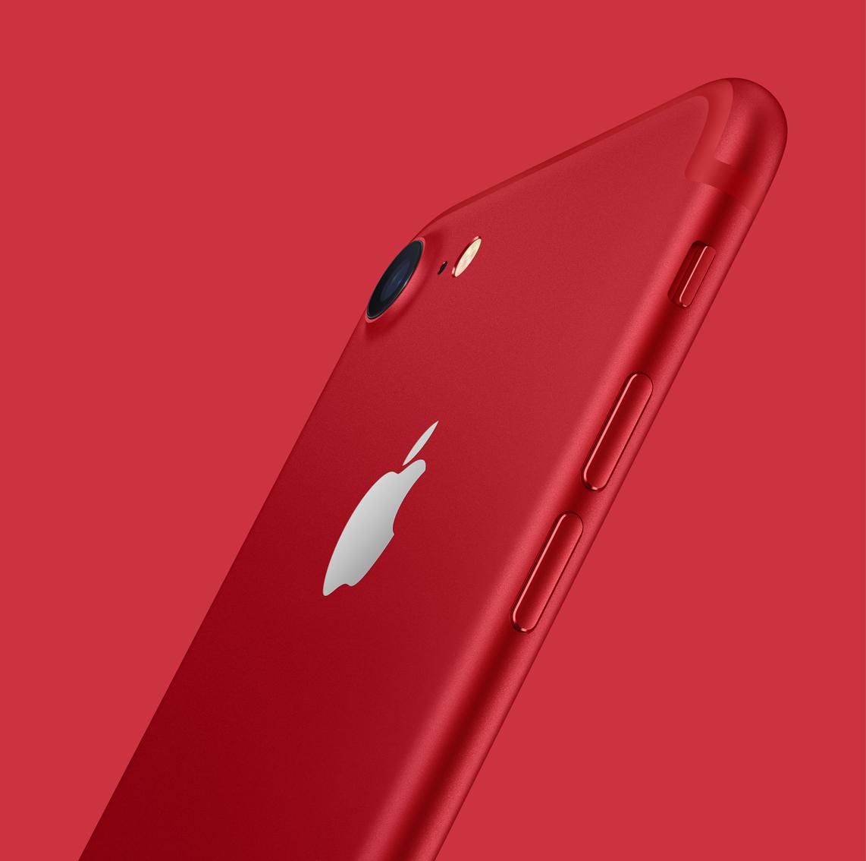kırmızı iPhone 7 ve 7 plus