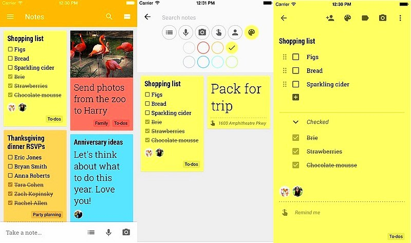 google keep mobil app