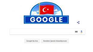 Google bu yıl da 29 Ekim Cumhuriyet Bayramımızı unutmadı!
