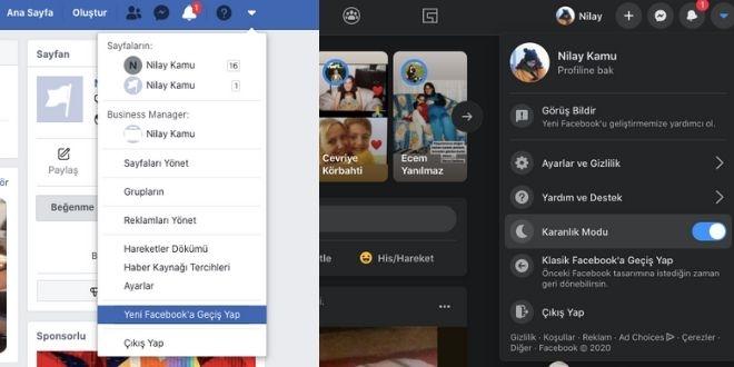 Facebook yeni tasarimi