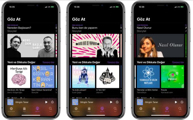 Apple podcast önerileri