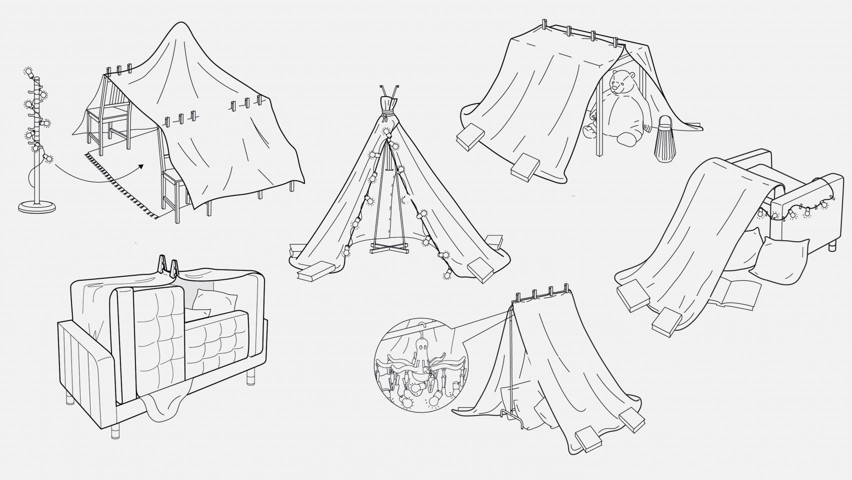 evdeki malzemelerle oyun çadırı yapmak