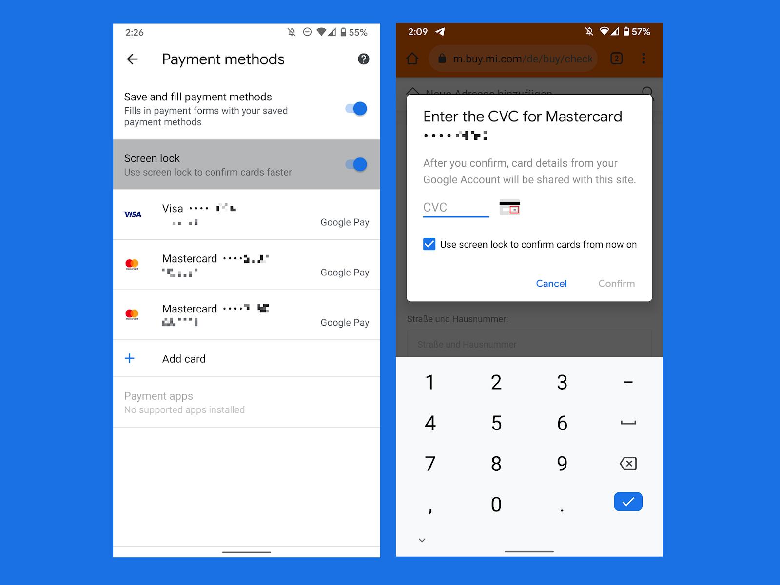Google-Chrome- biyometrik- dogrulama