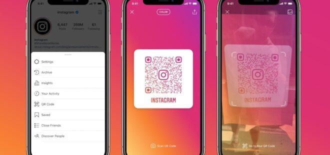 Instagram QR kod özelliği