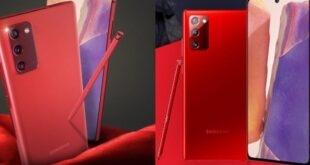 Samsung Galaxy Note 20 kırmızı