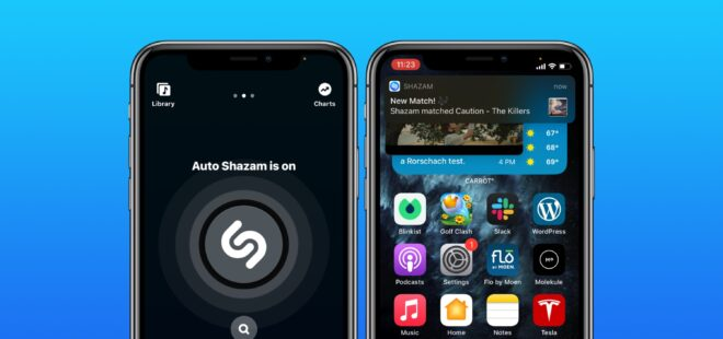 Apple Shazam, iOS