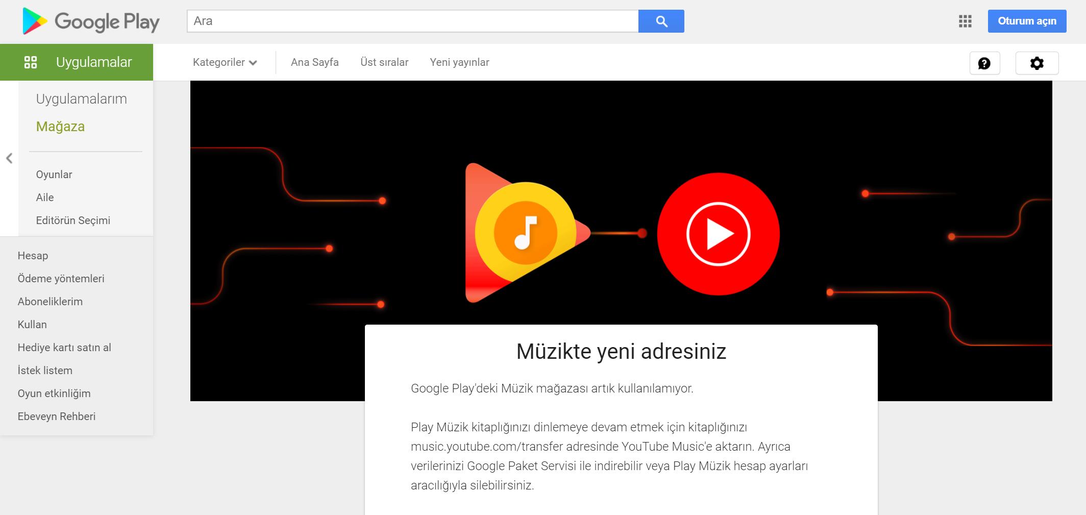 google play müzik, youtube müzik,