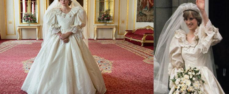 The Crown'da Diana'nın gelinliği