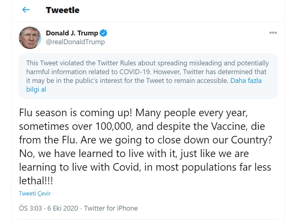 trump'ın koronavirüs mesajı, koronavirüs,