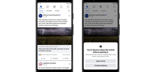Facebook, okunmadan paylaşılan içeriklerin önüne geçecek