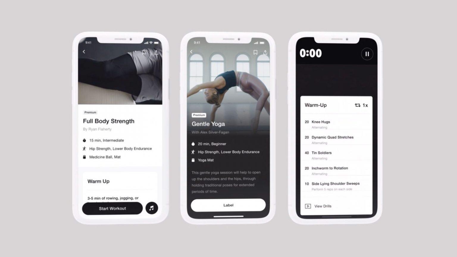 Nike Training Club egzersiz uygulaması