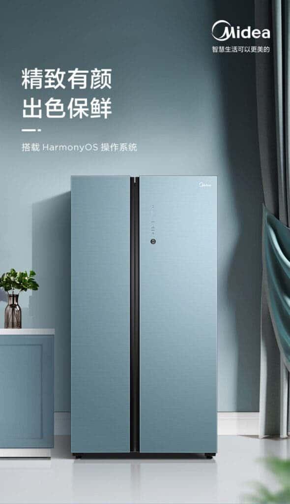 Huawei HarmonyOS kullanan Midea buzdolabını tanıttı