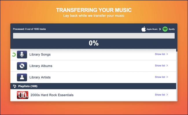 Çalma listeleri Apple Music'ten Spotify'a nasıl taşınır?