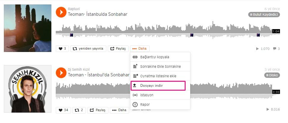 SoundCloud'dan nasıl şarkı indirilir?