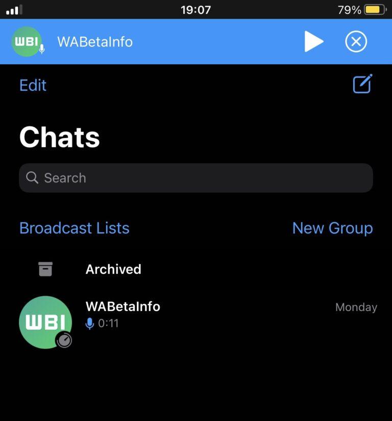 Whatsapp sesli mesaj oynatıcı